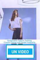 Sustainable Fashion Tackling Climate Change and Gender Inequality
